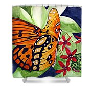 Precocious Butterfly Shower Curtain