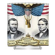 Presidential Campaign, 1868 Shower Curtain