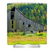 Prest Road Barn Shower Curtain