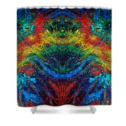 Primary Abstract IIi Design Shower Curtain