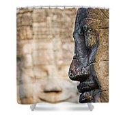 Profile Of Avalokiteshvara Statue Shower Curtain