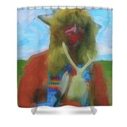 Proud Crow Warrior II Shower Curtain