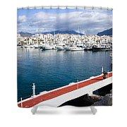 Puerto Banus In Spain Shower Curtain