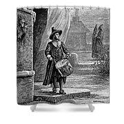 Puritan Church Drummer Shower Curtain