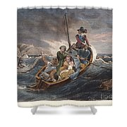 Puritan Fugitives Shower Curtain