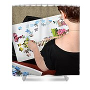 Puzzle Therapy Shower Curtain