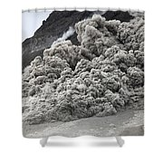 Pyroclastic Flow Descending The Flank Shower Curtain