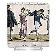 Quadrille, 1820 Shower Curtain