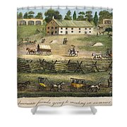 Quaker Meeting, 1811 Shower Curtain by Granger