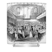 Quaker Meeting, 1843 Shower Curtain