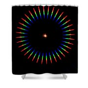 Quicklime Spectra Limelight Shower Curtain by Ted Kinsman