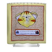 Quilted Cat  Shower Curtain