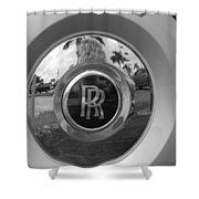 R R Wheel Shower Curtain
