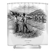 Railroad Construction Shower Curtain