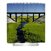 Railroad Trestle Shower Curtain