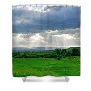 Rain Sun Rays Shower Curtain