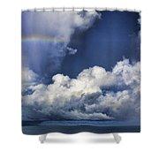 Rainbow Cloud V5 Shower Curtain
