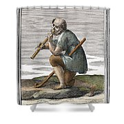 Recorder, 1723 Shower Curtain