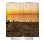 Reculver Sunset Shower Curtain