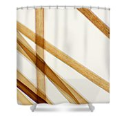 Red Human Hair Shower Curtain