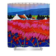 Red Meadow Shower Curtain