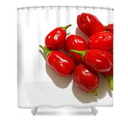 Red Peppers Shower Curtain