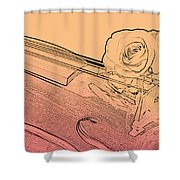 Red Rose Violin Viola Shower Curtain