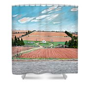 Red Soil On Prince Edward Island Shower Curtain