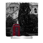 Red Telephone Box Shower Curtain