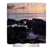 Red Tides Shower Curtain