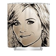 Reese Witherspoon In 2010 Shower Curtain by J McCombie