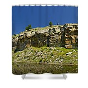 Reflecting Cliffs Shower Curtain