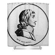 Rene Descartes, French Polymath Shower Curtain