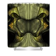 Reptilian - Green Shower Curtain