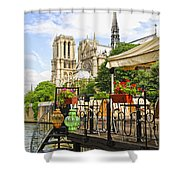 Restaurant On Seine Shower Curtain