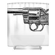 Revolver, 19th Century Shower Curtain