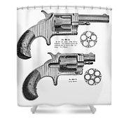 Revolvers, 19th Century Shower Curtain
