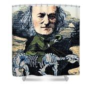 Richard Owen, English Paleontologist Shower Curtain by Science Source