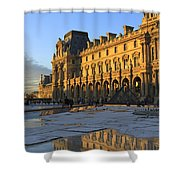 Richelieu Wing Of The Louvre Museum In Paris Shower Curtain