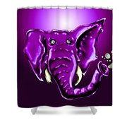 Ringo Party Animal Purple Shower Curtain