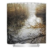 River In The Fog Shower Curtain