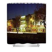 River Liffey, Dublin, Co Dublin, Ireland Shower Curtain