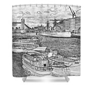 River Thames Art Shower Curtain