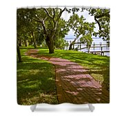 River Walk On The Indian River Lagoon Shower Curtain