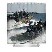 Riverine Command Boats And Security Shower Curtain