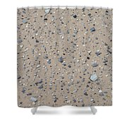 Rocks Sorted By The Wind Shower Curtain