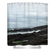 Rocky Coastline Shower Curtain