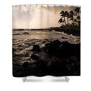 Rocky Coastline, Poipu, Kauai, Hawaii Shower Curtain