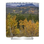 Rocky Mountain Autumn View Shower Curtain