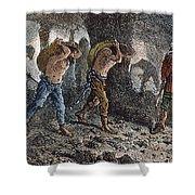 Roman Slavery: Coal Mine Shower Curtain
